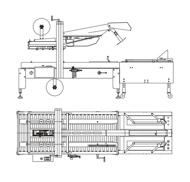 Máy gập nắp và dán thùng carton tự động
